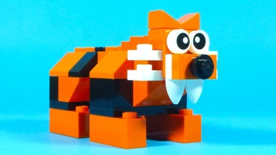 simple lego tiger